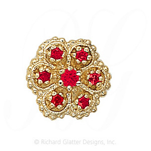 GS080 R - 14 Karat Gold Ruby Slide